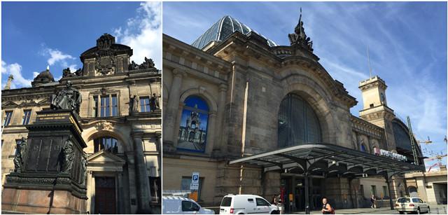 德累斯顿广场雕塑和火车站